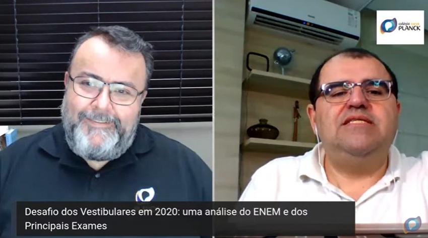 Análise realizada durante live com diretor de Ensino e Inovações do SAS, Ademar Celedônio, sobre o desafio dos vestibulares em 2020.