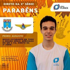 Aprovado Pedro Augutso